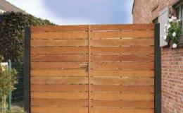 portail bois amétal