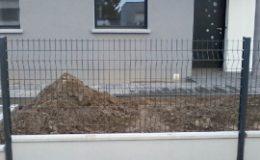 soubassement beton en 50cm sur panneau grillagé