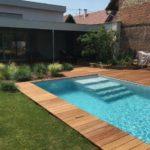 contour de piscine bois